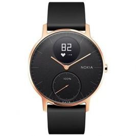 Nokia Steel HR (36mm) Rose Gold/Black Silicone wristband
